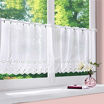 Tab Top Sheer Kitchen Balcony Window Curtain Voile Liftable Roman Blinds NEW HOT