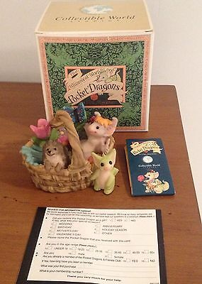 Pocket Dragons Gardening Basket NIB 2000/2001