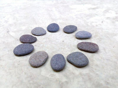 10 Flat Small Stones - Tiny Craft Pebbles Easy To Drill 5 - 10 mm FREE Shipping