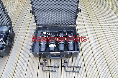 FOUR (4) in case Bowens Esprit 250 BW 1070 with protection caps / mounting arms