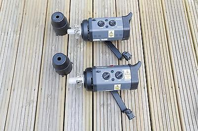 2x Bowens Esprit Gemini GM 250 flash heads BW 3600 front caps mounting arms #1