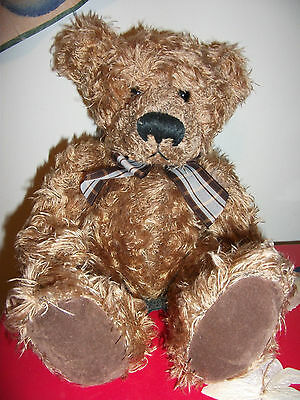 Collectable Russ COLBY Brown Teddy Bear big feet sad RETIRED soft Plush Toy