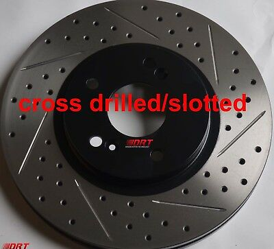 Power Stop JBR914XPR Drilled /& Slotted Front Rotor Set for 00-09 Honda S2000