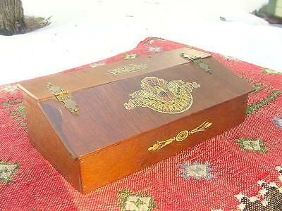 Antique Victorian Ladies Desk/Sewing Box ~ Aesthetic Movement Decorations