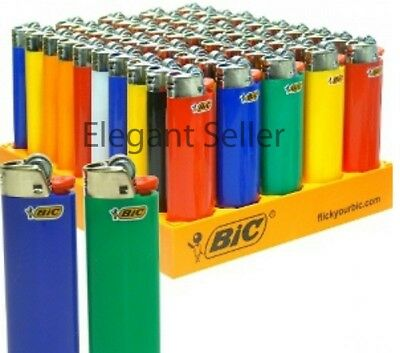 8 Regular full size BIC Cigarette Lighters - Assorted Colors BIG BIC Quality
