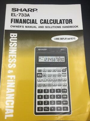 manual for sharp el 733a business financial calculator 9 99 rh picclick com sharp el 738 financial calculator user manual sharp el-738 business financial calculator manual