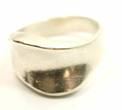 """Bold Design Antique Estate """"Relief"""" Ring Size 9 in Sterling Silver"""