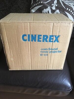 Cinerex SU 510 Super 8mm Sound Movie Projector. Boxed And Mint Condition.