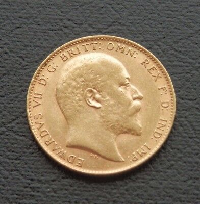 1909 Edward VII Sovereign - London Mint - Spink 3869 - good VERY FINE +