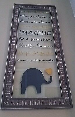 Nursery Elephant & heart wall decor w/ cute sayings for boys baby toddler room