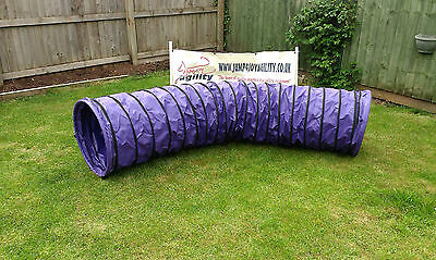 3m Dog Agility Tunnel Purple KC - UKA spec