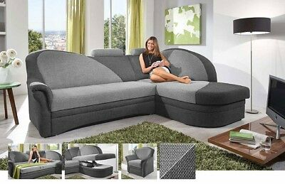 ecksofa mit schlaffunktion marke polipol braun. Black Bedroom Furniture Sets. Home Design Ideas