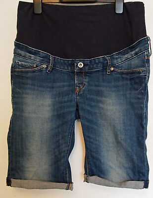 H&M Blue Shorts Denim Size 14 Jeans Elasticated Waist