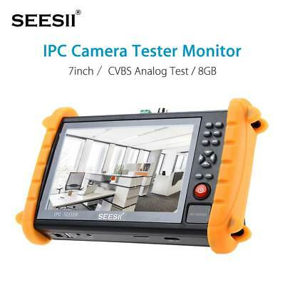 "IPC-9600 7"" Capacitive Touch Screen POE ONVIF IP&Analogy Camera CCTV Tester New"