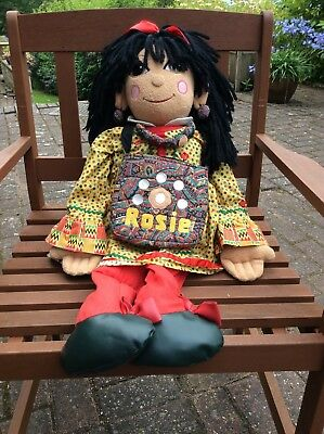 Vintage Great Condition Rosie 30 Inch Large Rag Doll - Complete