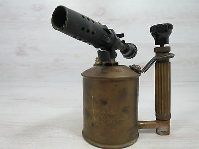 Antique Brass Gasoline Blow Torch Original Adler Germany Rare