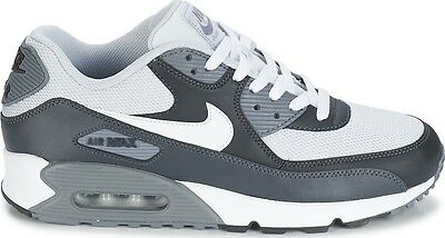 NIKE AIR MAX 90 ESSENTIAL 537384 070 MENS Pure Platinum/White-Dark Grey-CoolGrey