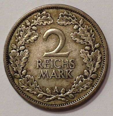 1926A Germany, Weimar Republic, 2 Reichs Mark,Silver Coin,*Nice /Rare*