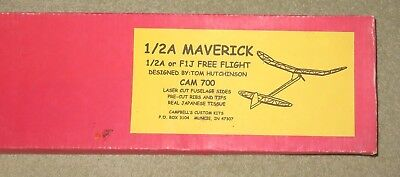 1/2A or F1J  MAVERICK POWER DURATION MODEL  BY CAMPBELL'S CUSTOM KITS  NOS