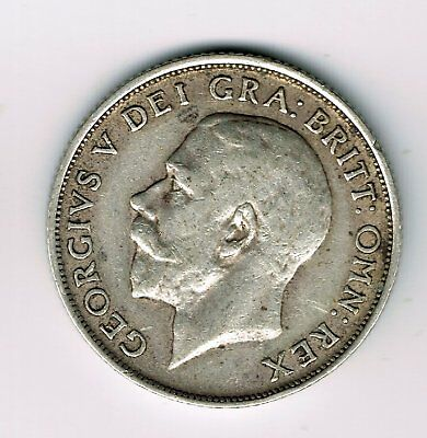 1911 George V sterling silver shilling coin - 5.6g