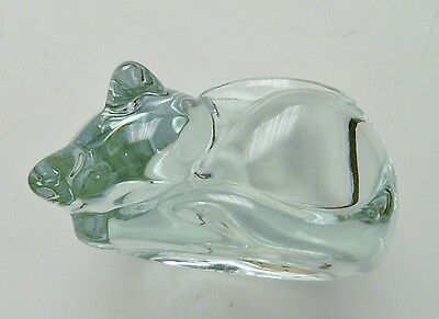 Indiana Glass Clear Crystal Cat Votive Candle Holder - Vintage