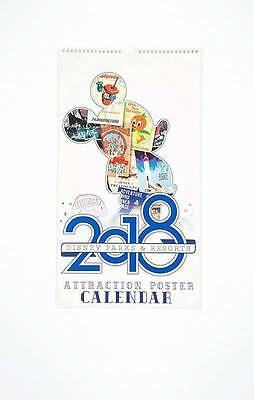 Disney Parks 2018 Attraction Poster Calendar with 12x18 inch Removable Posters