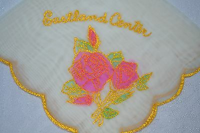 Vintage Ladies Souvenir Hanky Handkerchief Eastland Center ...Michigan