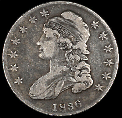 1836 Capped Bust Silver Half Dollar 50C Circulated Original