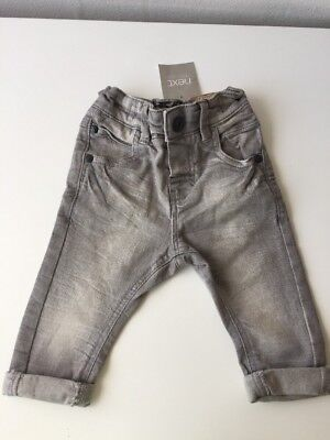 Next BNWT Baby Boys Grey Denim Jeans Trouser 3-6months Never Worn