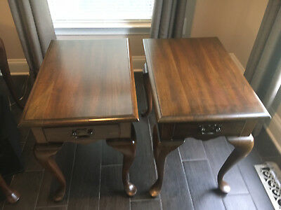 PENNSYLVANIA HOUSE Solid Cherry Queen Anne 24″ End Table Set of Two (2)