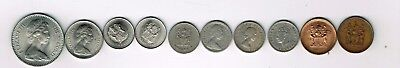 10 different coins from Rhodesia : 1947 - 1977