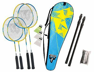 Talbot Torro Family Sports Easy Set Up Outdoor Games Playing Unit Badminton Set