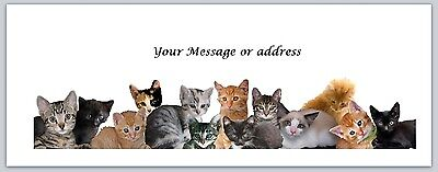 30 Personalized Return Address Labels Cats Buy 3 get 1 free (ct235)