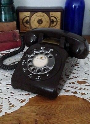 Rotary Telephone (brown_