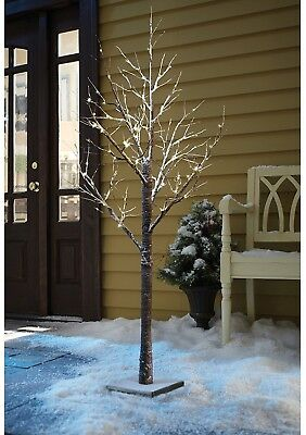 LED Christmas Snow Tree Indoor Outdoor Decoration Winter Lights Xmas Twig Decor