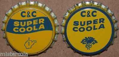 Vintage soda pop bottle caps C and C SUPER COOLA Collection of 2 diff cork lined