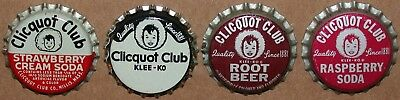 Vintage soda pop bottle caps CLICQUOT CLUB Collection of 4 different cork unused