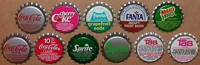 Vintage soda pop bottle caps COCA COLA Collection of 11 different new old stock