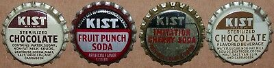 Vintage soda pop bottle caps KIST Collection of 4 different unused new old stock