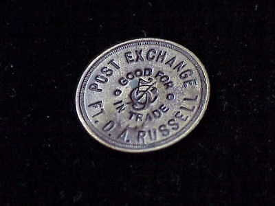 Fort D.A. Russell, WY Post Exchange HD variety incuse Wyoming military token