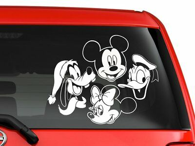 "Disney Mickey Minnie  Goofy donald Window Sticker Decal for Car  SUV 9"" White"
