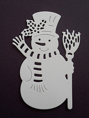 Christmas Snowman Paper Die Cuts x 10 Scrapbooking Embellishment - Not a Die