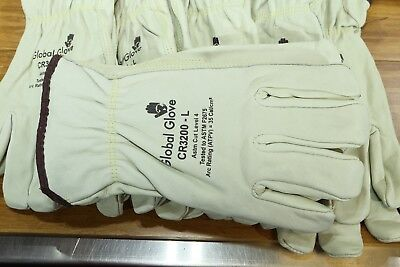 Premium Leather Cut Resistant Work Gloves Full Kevlar Lining ASTM Level 4 Large