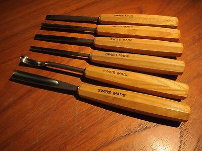 Pfeil Premium Vintage Swiss Wood Carving Chisel Gouge Set