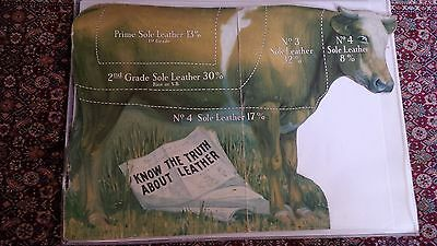 Know Truth About Leather Chicago Vintage Advertising 1930s Norman Shaffer