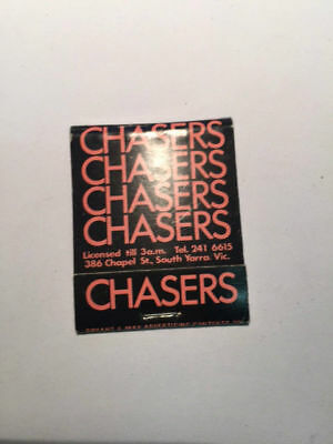 Chasers Night Club South Yarra Vintage Matches Match Book Matchbook