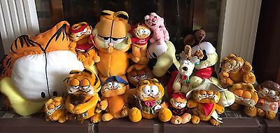 Vintage Garfield Plush Collection Dakin 1980's Odie Pooky Arlene Lot New & Used