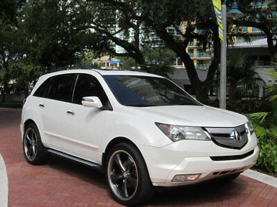 2007 Acura MDX 4WD 4dr Tech Pkg Gorgeous Aspen White 2007 Acura MDX Luxury AWD SUV Tech Package No Irma Damage