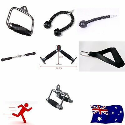 Tricep Exercise Rope Extension Single Handle Triangle V Bar All Cable Attachment