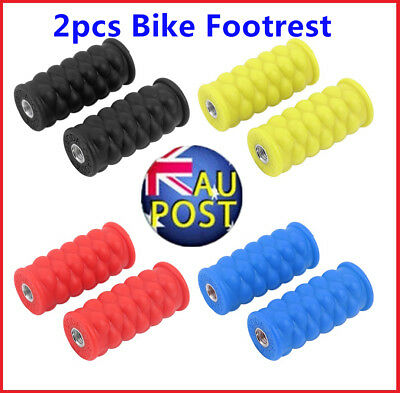 Bright Color Resin Footrest Foot Pegs Rest Pedal for Passengers Bike Pedal F VC